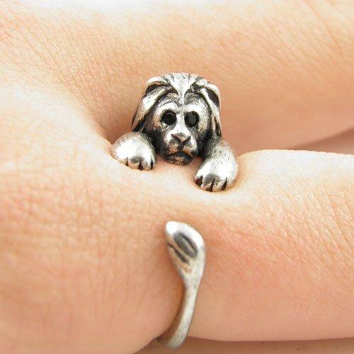Lion Animal Wrap Ring - Silver for Women - 5j Ring