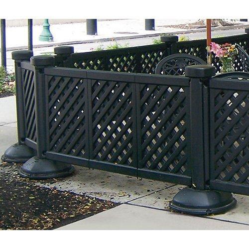 Amazoncom Fence Panel 3 Panel Section Interlocking Black