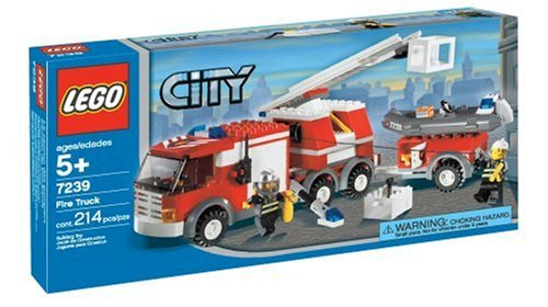 Lego Fire Truck Instructions - LEGO City Fire Truck (7239)