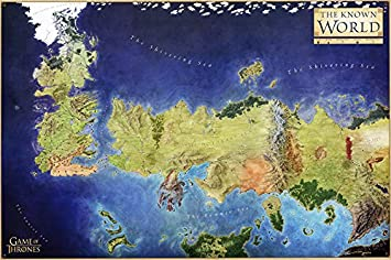 Amazon best print store game of thrones westeros the known best print store game of thrones westeros the known world map poster gumiabroncs Image collections