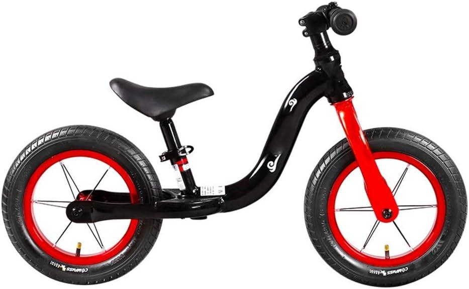 YUMEIGE Bicicletas sin Pedales Bicicleta de Equilibrio para niños Dirección 360 Grados,Bicicletas sin Pedales Asiento de Aluminio Ajustable, con reposapiés 2-5 años Competitivo (Color : Black): Amazon.es: Jardín