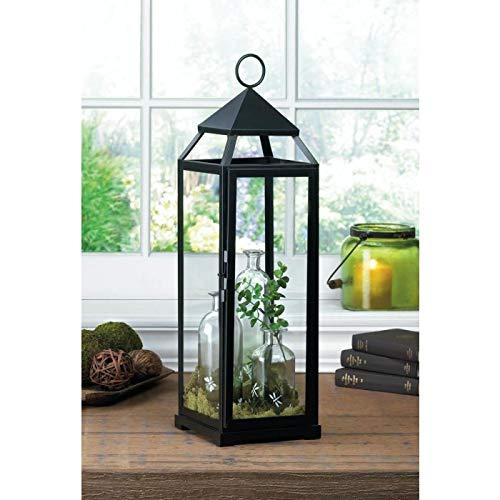 Extra Tall Black Contemporary Lantern