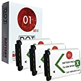 3x DOT-01 Brand 1800 mAh Replacement Sony M8 Batteries for Sony HDR-CX405 Camcorder and Sony M8