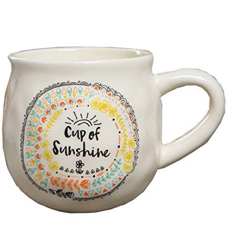 Natural Life Happy Cup of Sunshine Mug, Multicolor