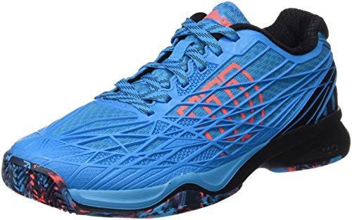 Wilson WRS322820E075, Zapatillas de Tenis para Hombre, Azul (Hawaiian Ocean / Black / Fiery Coral), 41 1/3 EU