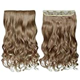 "REECHO 18"" 1-Pack 3/4 Full Head Curly Wavy Clips in"
