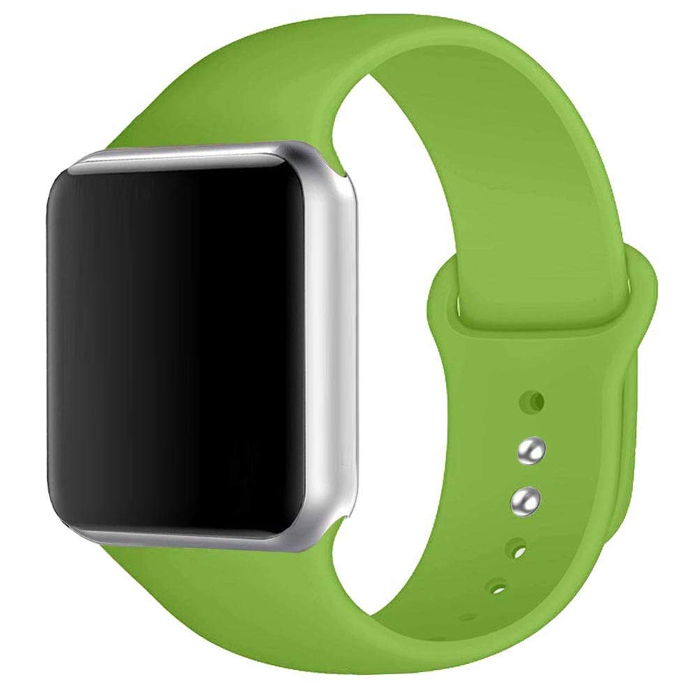 Winso Silicone Watch Band 38mm 40mm 42mm 44mm S/M M/L for Series 4/3/2/1 Green 42(44) mm M/L