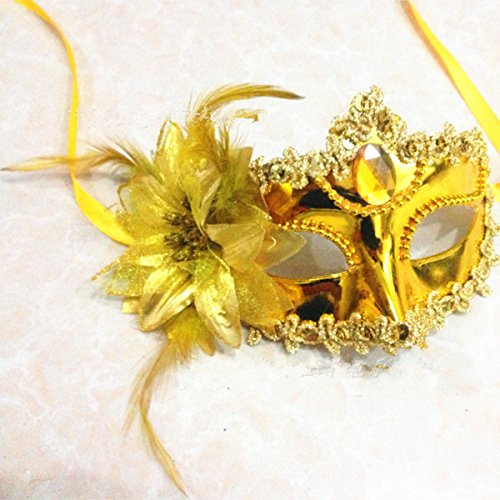Halloween Mask Princess Mask Muffle Party Party Performance Side Flower Gem Mask (Halloween Costumes History And Origin)
