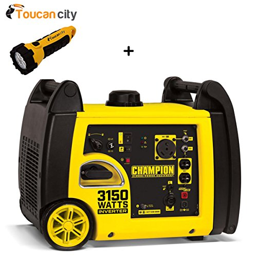 Toucan City LED flashlight and Champion Power Equipment