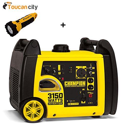 Toucan City LED flashlight and Champion Power Equipment