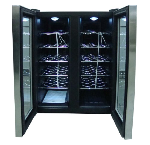 Spt Wc 2461h Double Door Dual Zone Thermo Electric Wine