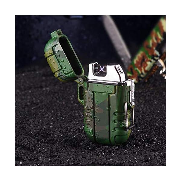 Mechero de Plasma, Teepao Dual Arc Mechero USB recargable sin llama a prueba de viento encendedor de cigarrillos… 4