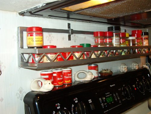 Wall Spice Rack With Western Style shelf front by Joanne