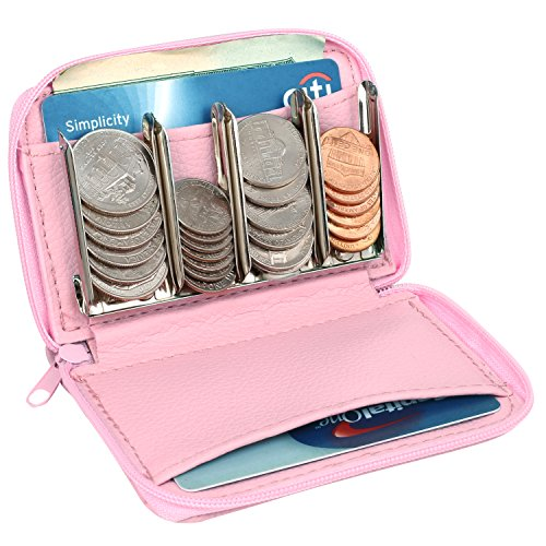 Quick Coin (MCB Wallet And Coin Sorter Trusty Coin Pouch ,For Pocket Purse Or Car For Quick Change (pink))