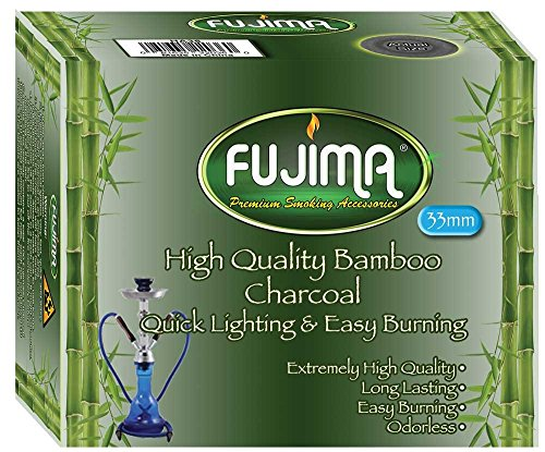 (fujima Sage Smudge Charcoal Tablets Bamboo Odorless for 33 mm, 10 Disks)