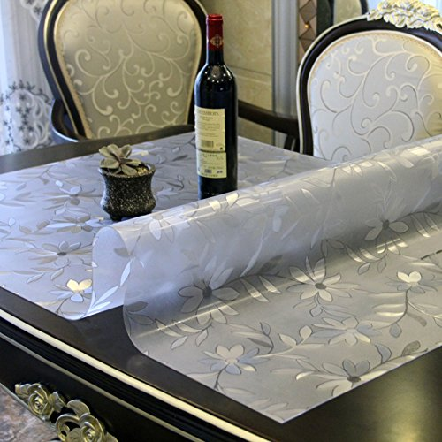 Soft,pvc,[soft glass],[waterproof], burn-proof, plastic tablecloths/table mat /tea table mats/transparent frosted table cloth-B 90x150cm(35x59inch) by HAKLLASDFNFDES