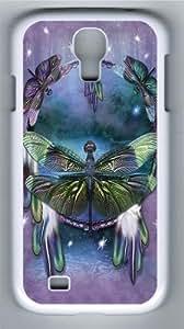 Dragonfly Dreamcatcher Custom Samsung Galaxy I9500/Samsung Galaxy S4 Case Cover Polycarbonate White