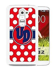 NCAA Dayton Flyers White Customize LG G2 Phone Cover Case