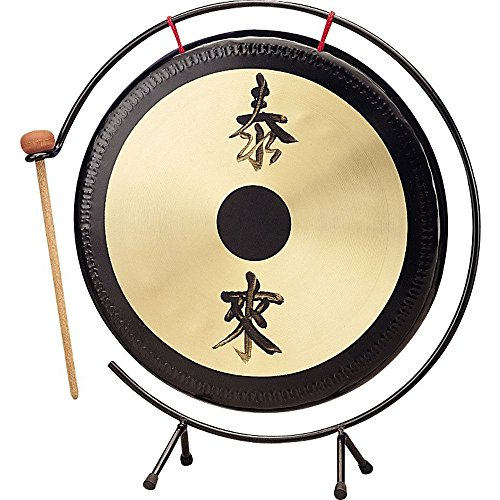 Percussion Workshop TFLGON-14 14'' Table Top Gong with Stand and Beater by Percussion Workshop