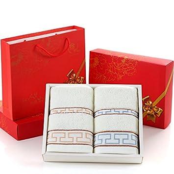 LTQ&qing - Toalla de algodón con 2 toallas de regalo para boda, ...