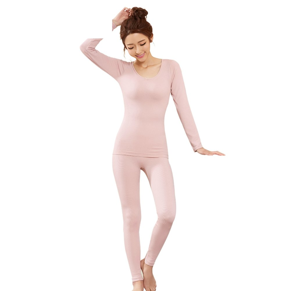 Ms thick warm clothing/Round neck close-fitting plastic warm clothing/ body dressing/Autumn clothing suit-A One Size