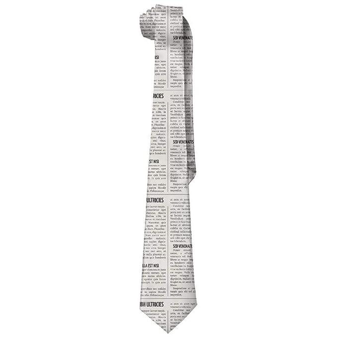 Jxrodekz Corbatas de seda de periódico para hombre de moda ...
