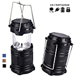 LED Camping Lantern - Camping Lantern - LED Solar Rechargeable Camp Light Flashlights - Emergency Lamp - Power Bank for Android Cell Phone IOS Iphone