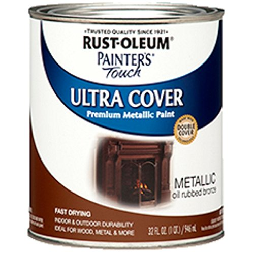 - Rust-Oleum 254101 Painters Touch Quart Oil Based, Metallic Oil-Rubbed Bronze