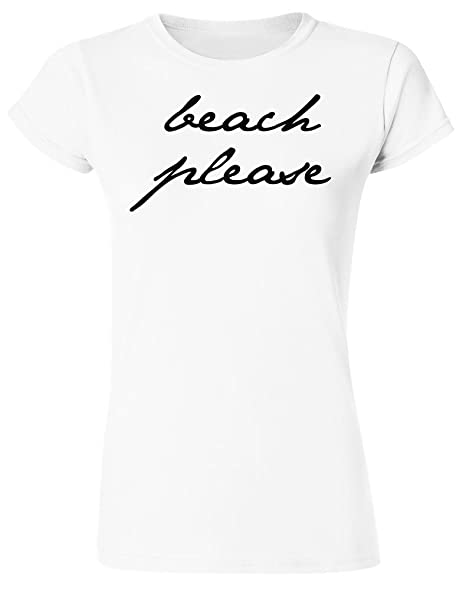 Idcommerce Beach Please Womens T Shirt At Amazon Womens Clothing