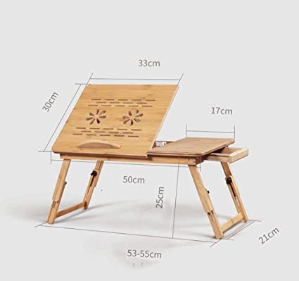 RPMDM Ordenador portátil de bambú portátil Plegable Escritorio ...