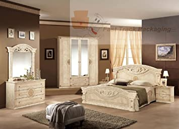 U0027ROMA   BEIGEu0027   Italian Bedroom Suite   6 Item Set! Beautiful Finish