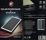 Diamondback Solar and USB Rechargeable Stun Gun 10,000 mAh Power Bank Phone Charger (Pink)