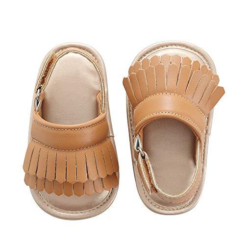 - Baby Sandal Tassels Summer Toddler Slipper Shoes 0 6 12 18 Months (12-18 Months Infant, Brown)