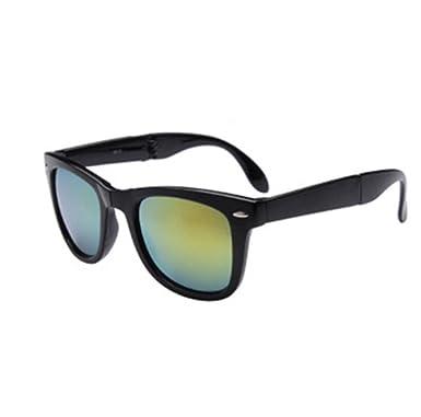 84893b165796 HLHN Herren Damen Vintage Platz Gespiegelte Sonnenbrille Brillen ...