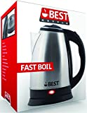Best Electric Tea Cordless Kettle with Rapid Boil Technology, 2.0 Liter, Brushed Nickel Stainless Steel Finish