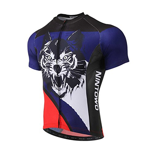 TeyxoCo 2018 Men Wolf Red Cycling Jersey Short Sleeve Top XXL - Jersey Cycling Coors