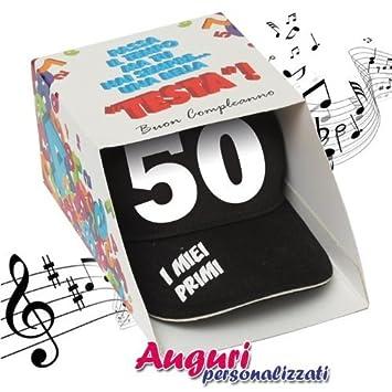 Auguri Buon Compleanno 50 Anni Spiritosi.Bombo Berretto Musicale Compleanno 50 Anni Regalo Divertente