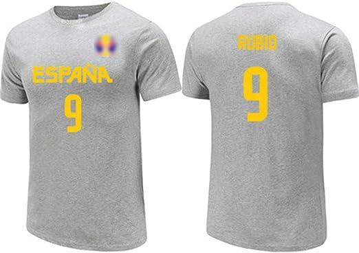 Ricky Rubio No.9 España Equipo Nacional de la camiseta, jerseys de ...