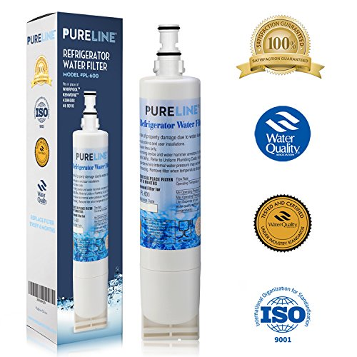 Price comparison product image Pure Line Water Filter, Compatible with Whirlpool 4396510, W10186668, NLC240V, 4396510, WF285, 4392857, 4396163, 4396547, 8212491, 46-9010, 46-9902, 46-9908 models, 1 pack