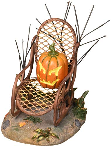Department 56 6001742 Halloween Village Collections Haunted Porch Rocker Accessory Figurine, -