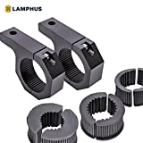 LAMPHUS Cruizer LED Off-Road Light Horizontal Bar Clamp Mounting Kit 1''/ 1.5''/ 1.75''/ 2'' [2 Clamps] [Includes Allen Hex Key] [User-friendly] - For Light Bar Bull Bar Tube Clamp Roof Roll Cage Holder