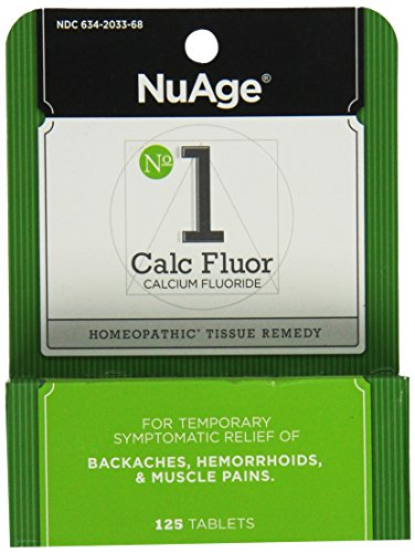 Back Pain Relief, Hemorrhoid Treatment, and Muscle Relaxer, Natural Remedy for Lower Back Pain, Hemorrhoids, and Muscle Pain, Hyland's #1 Cell Salt 6X Calc Flour, 125 Count (Best Remedy For Hemorrhoid Pain)
