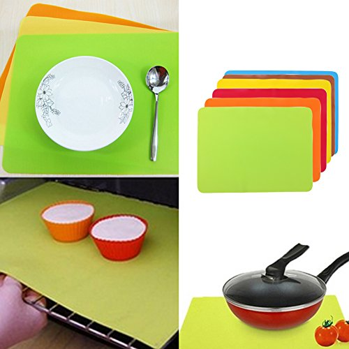 Lucrative shop 30*40cm Non-stick Silicone Mats Baking Liner Oven Mat Heat Insulation Pad (Bed Metal Milwaukee)