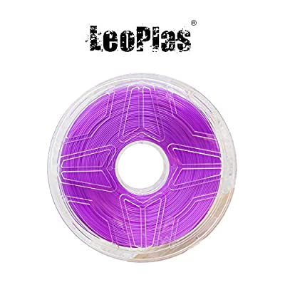 LeoPlas New Store USA Spain China Warehouse Global Shipping No Warping 1.75mm Transparent Translucent Purple ABS Filament 8 Colors 1Kg 2.2 Pounds FDM 3D Printer Pen Supplies Plastic Printing Material