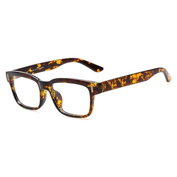 Männer Frauen Gläser - Klare Linse Brillengestell - Brillen + Brillenetui gratis - hibote #122804 v8B8LbA1d9