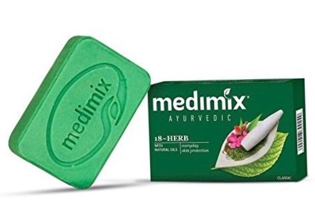 Medimix Real Ayurvedic Soap With 18 Herbs - 75 Gram (2.5 Oz) Bar - From India(Pack of 3)