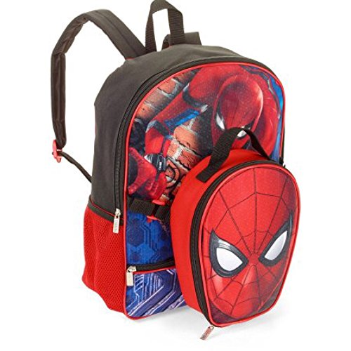 Spiderman Homecoming Marvel Backpack with Detachable Insulated Lunchbox Bag
