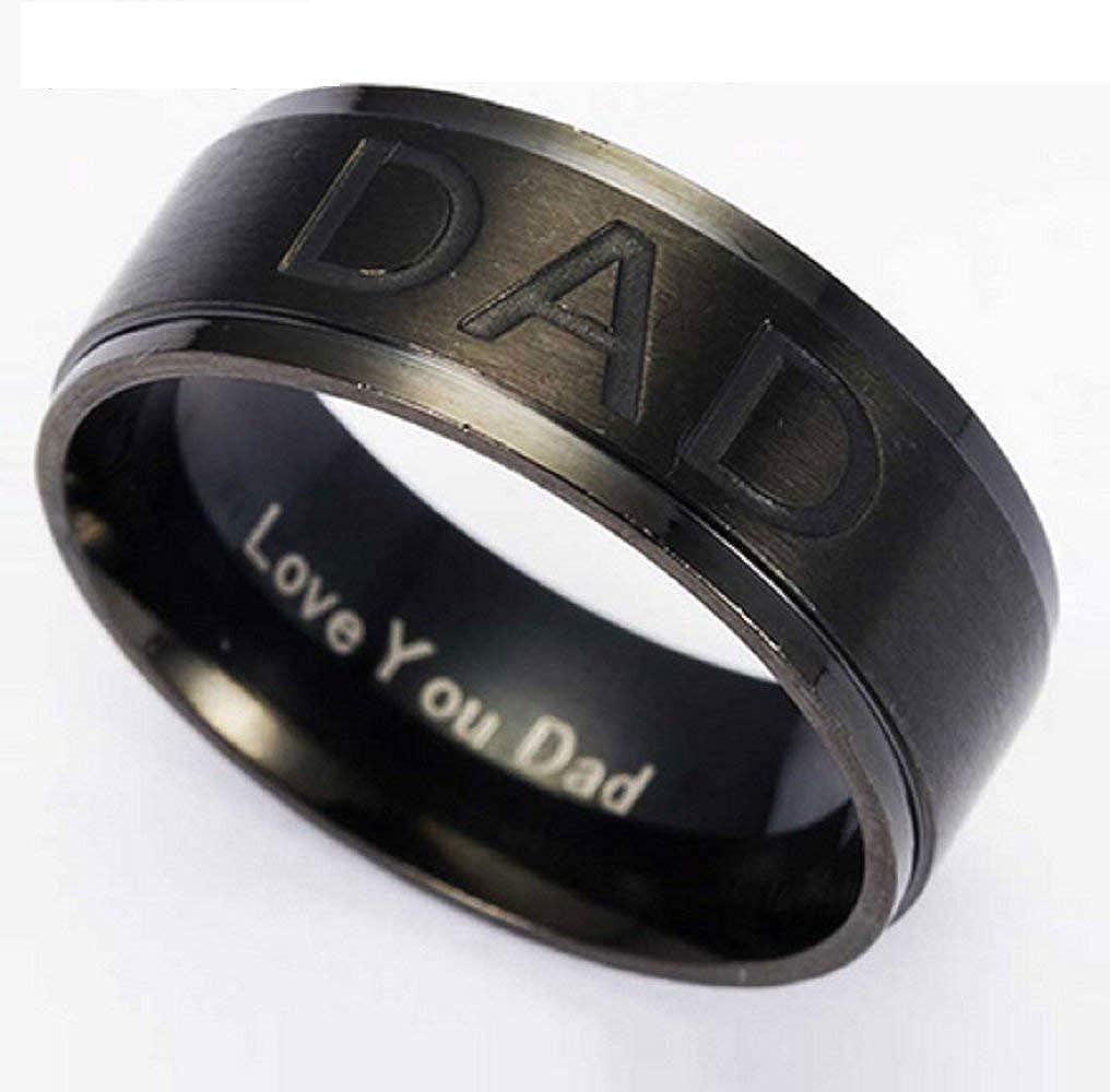Idea regalo Inception Pro Infinite Anello Uomo Fedina Pap/à Ti Amo Pap/à del Pap/à del Pap/à Love You Dad Colore Nero