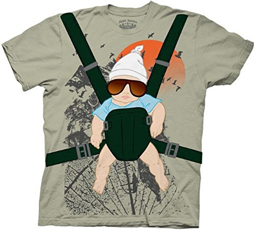 The Hangover Alan Baby Bjorn With Graphic Human Tree Dark Khaki Adult Costume T-Shirt Tee -