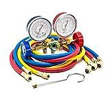 Goetland Diagnostic Manifold Gauge Kit Charging Hose for AC Refrigerant R12 R22 R502 (5FT)